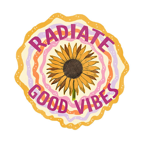 Radiate Good Vibes Sticker