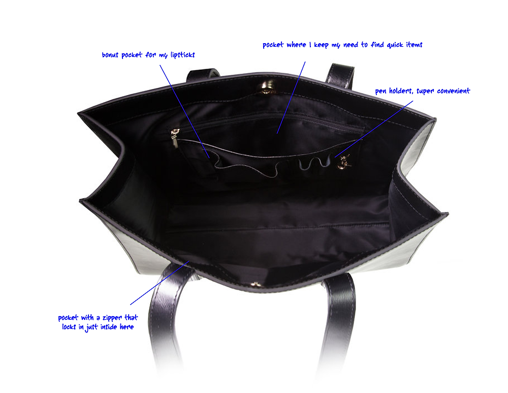 leather bag interior