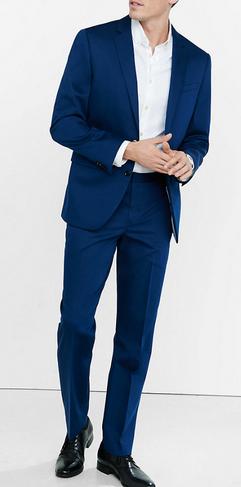 sateen, blue pantsuit