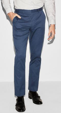 slim navy pants