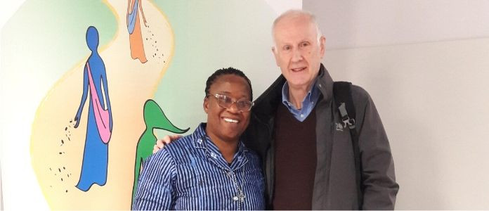Fr Paul Graham O.S.A. and Sr Anne Olayemi Falola O.L.A. of the Africa Working Group of the Unions of Superior Generals, 6 Dec 2019