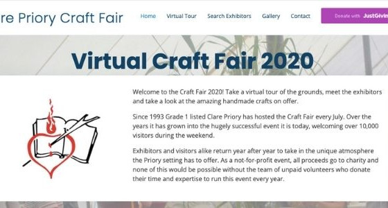 The Clare Priory Virtual Craft Fair, July 11th to August 31st 2020