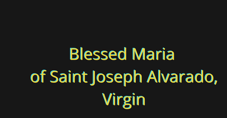 Blessed Maria of Saint Joseph - the first native of Venezuela to be beatified
