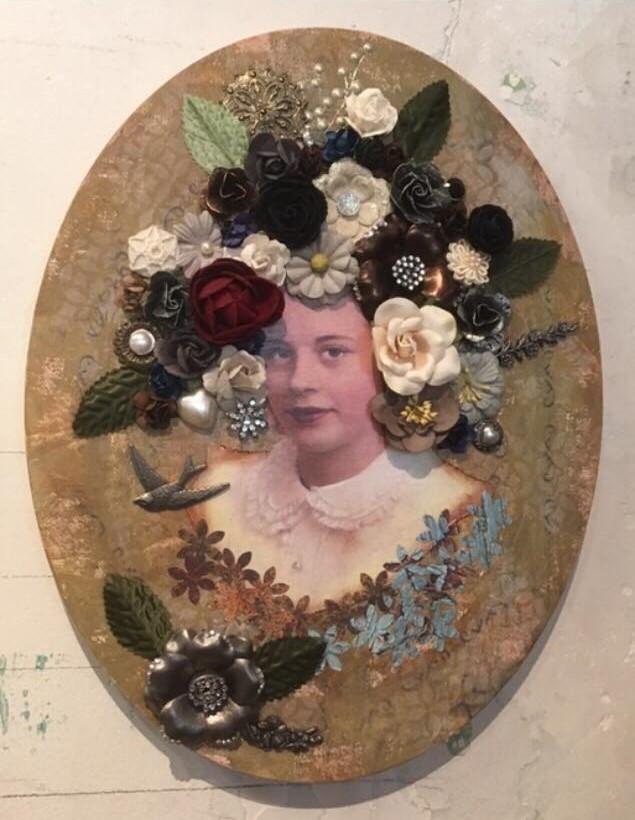 A fine-art collage by artist Susan Kelley
