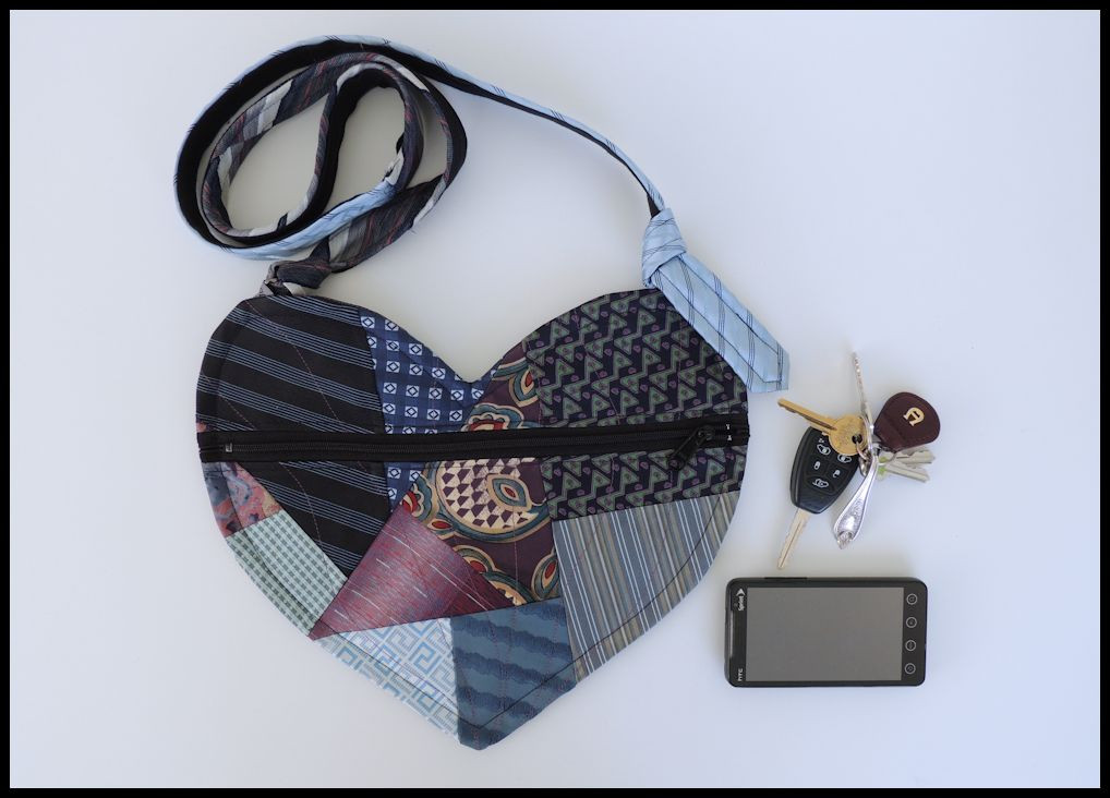 Pyurpl Heart Randome Patchwork