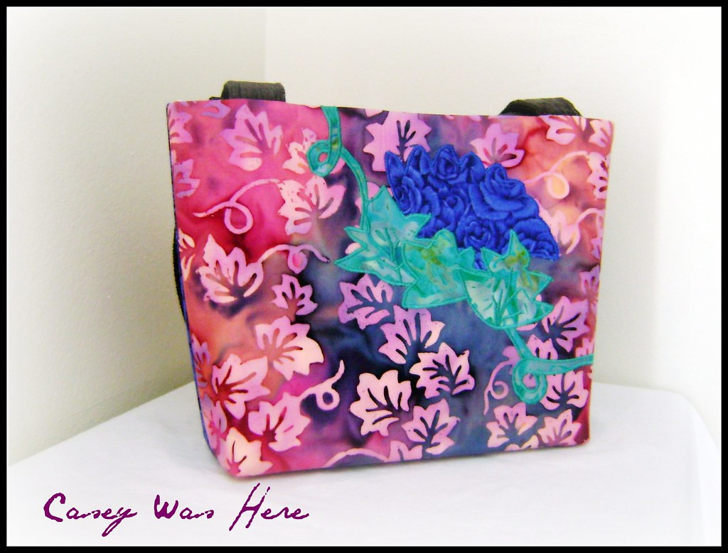Batik Cotton Quilted Floral Bag