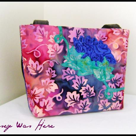 Batik Cotton Quilted Floral Bag