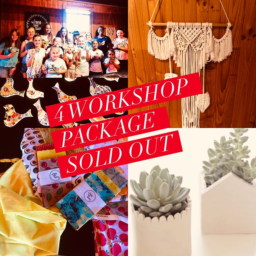 School Holiday Package - All 4 Workshops