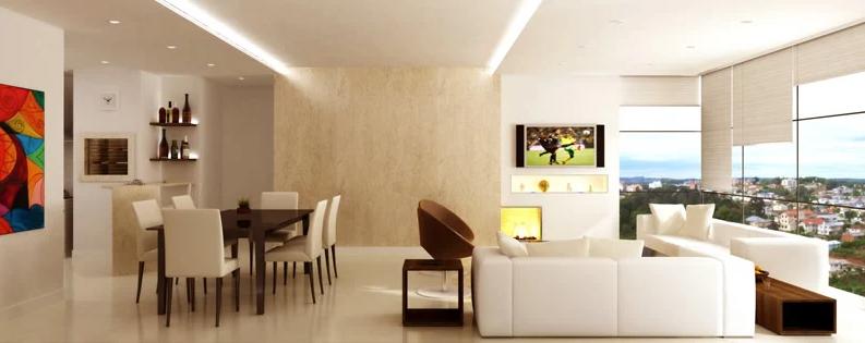 Living - Unidade de 3 dormitórios