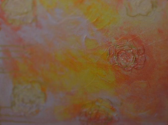 collage background to my painting titled Natasha.