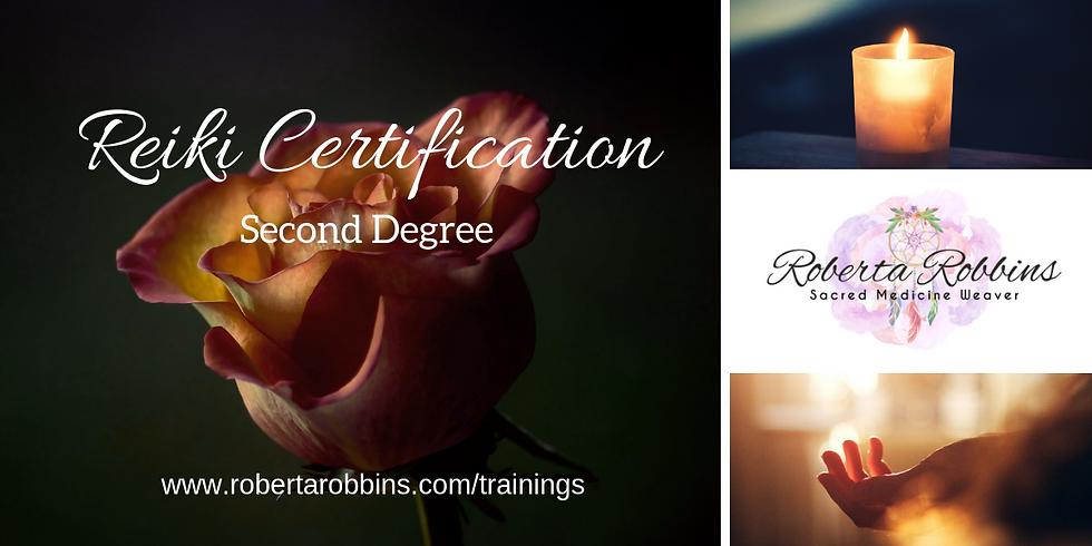 Reiki Certification ~ 2nd Degree