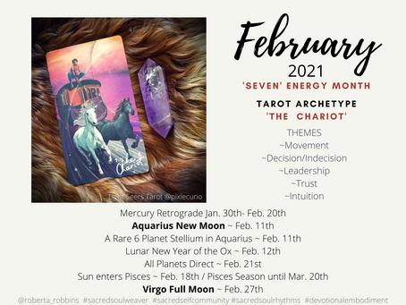 Sacred Soul Rhythms Calendar ~ February 2021