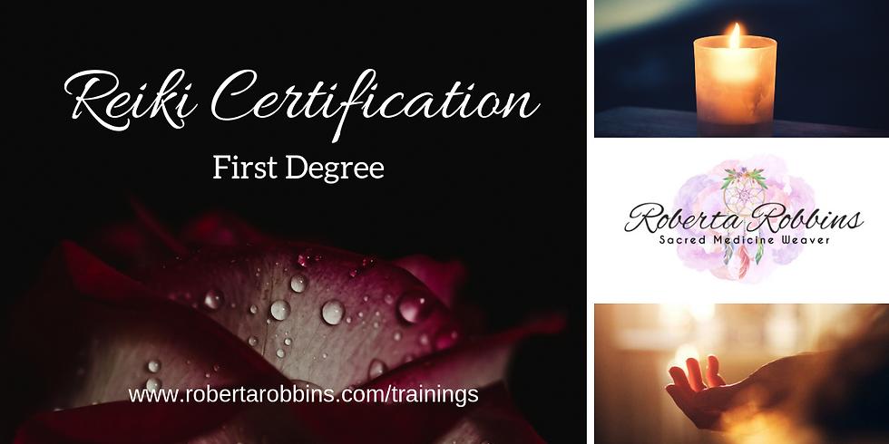 Reiki Certification 1st Degree