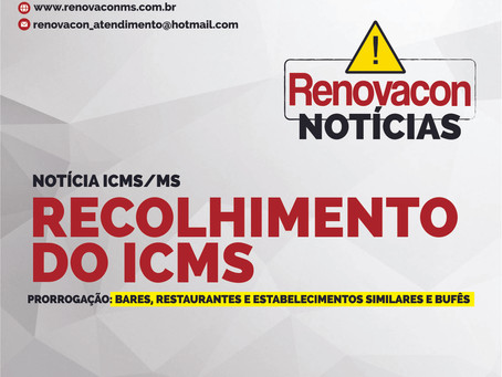 Recolhimento do ICMS