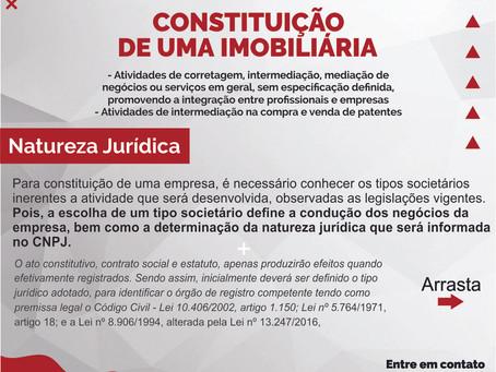 Constituição de uma Imobiliária