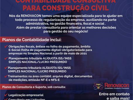 Contabilidade para area da Construção Civil