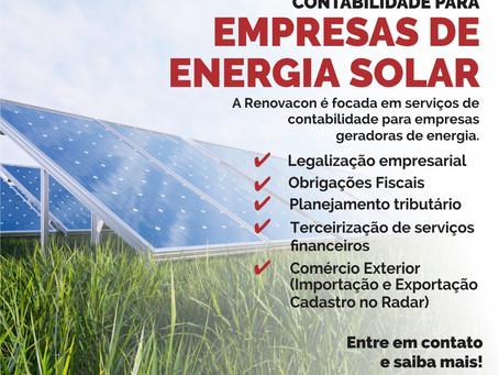 Contabilidade para o Ramo de Energia Solar