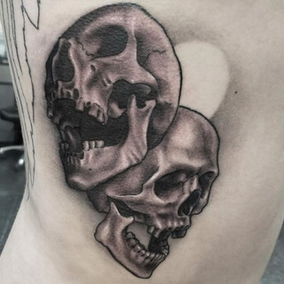 Skull tattoo by our artist _josiahodom !
