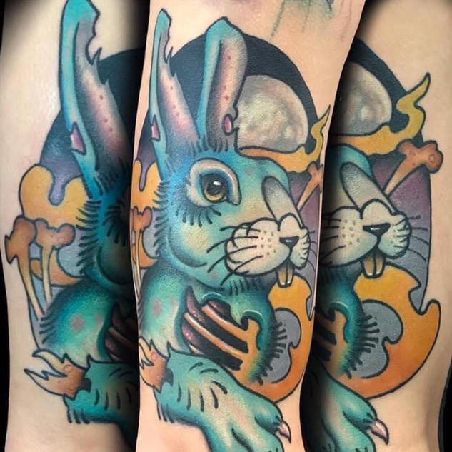 Zombie Bunny Rabbit Tattoo