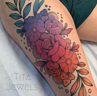 Tattoo by our artist Tita. _titajewelsta