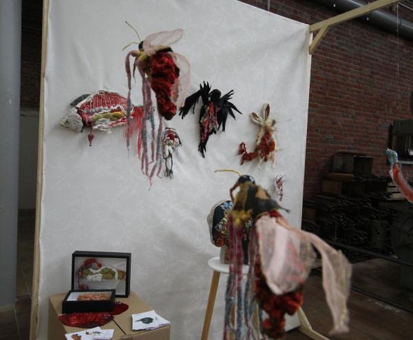 Les écorchés pièces textiles en volume