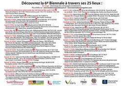 vernissage et evenement 6e Biennale