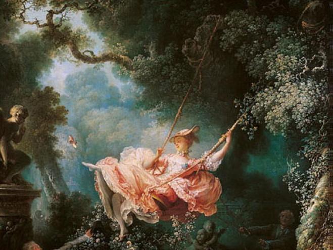 Les harsard heuruex de l'escarpolette Fragonard