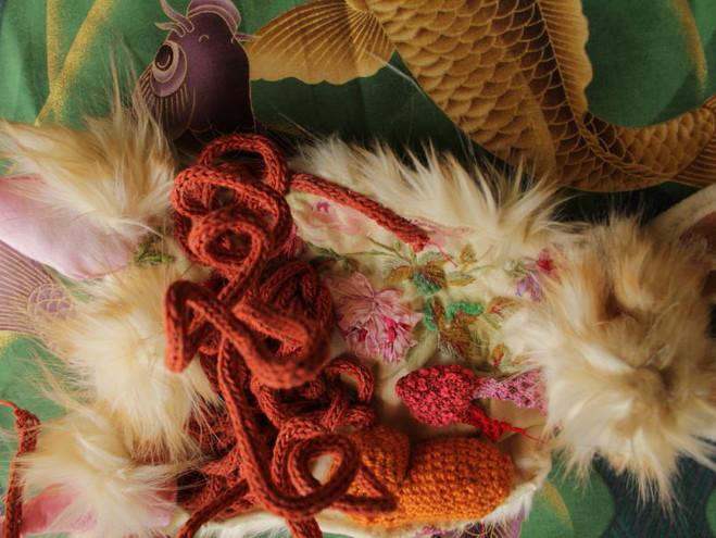 Lapin broderie laine crochet