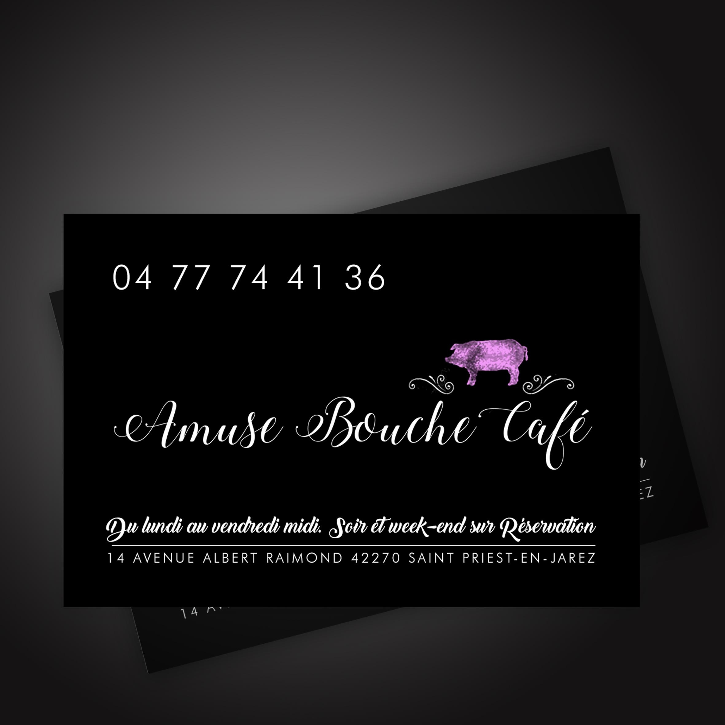Cartede visite Amuse Bouche Café