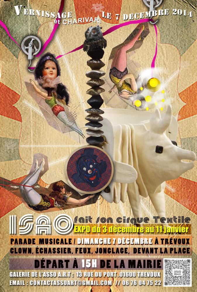 Affiche Isa fait son cirque textile