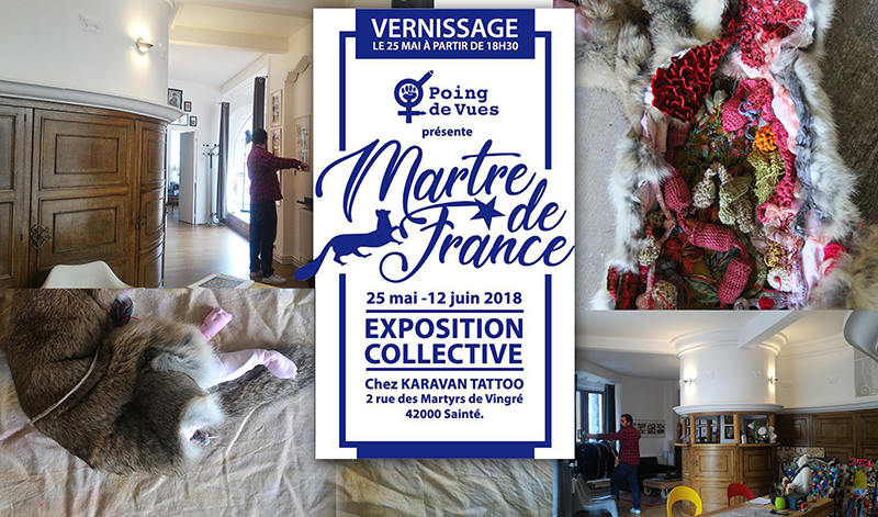 Invitation expo martre de france chez Karavan Tattoo 0