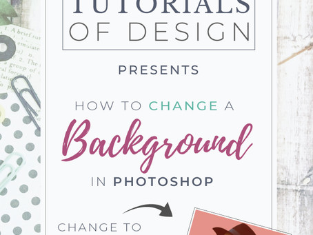 How to change a Background in Photoshop