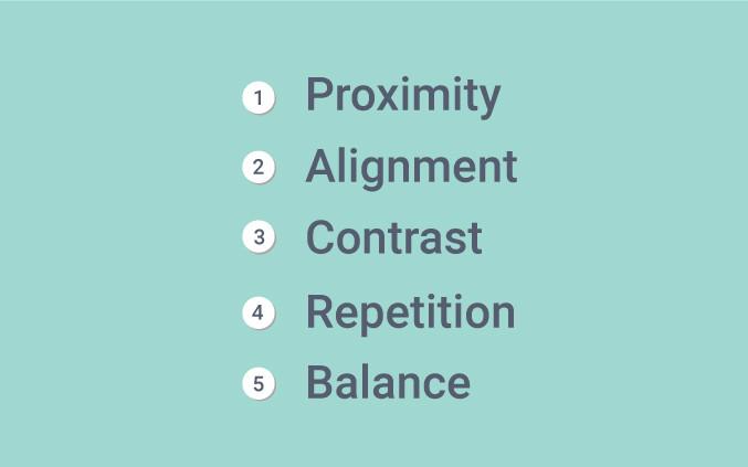 the five principles of design