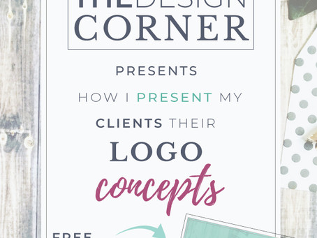 How I present my clients their Logo Concepts