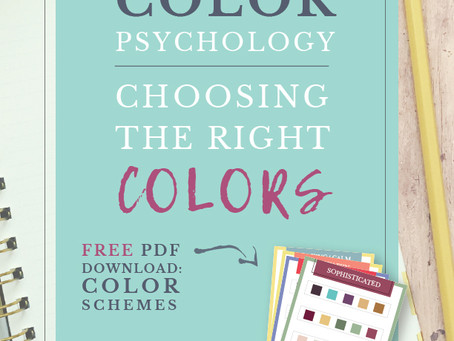 Color Psychology: Choosing the right colors