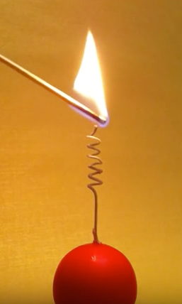 Romantic Candle forming a heart as it burns