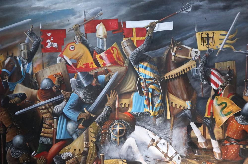 Disegno della battaglia di campaldino