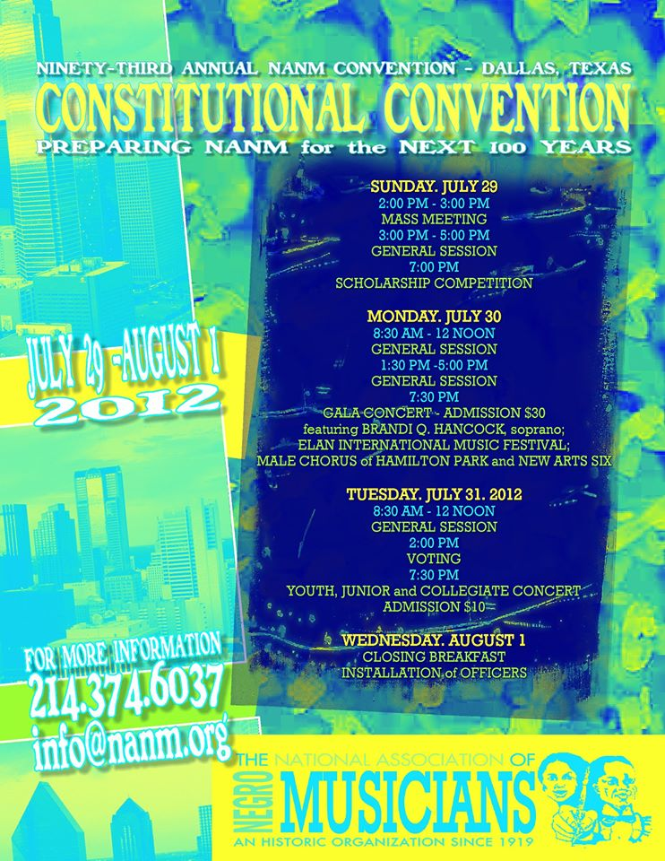 2012 Convention Events