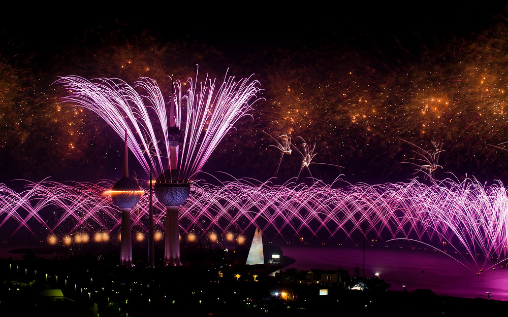 "Kuwait City ""50th Anniversary Constitution"" par Parente Fireworks"