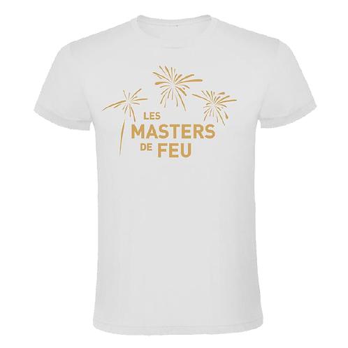 T-Shirt Masters de Feu Homme - Blanc Or