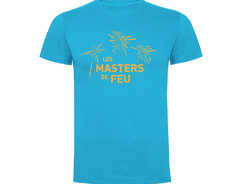 T-Shirt Masters de Feu Homme - Bleu Or