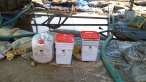 Tiger fluids products on site in Assam