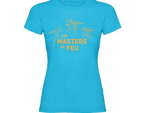 T-Shirt Masters de Feu Femme - Bleu Or