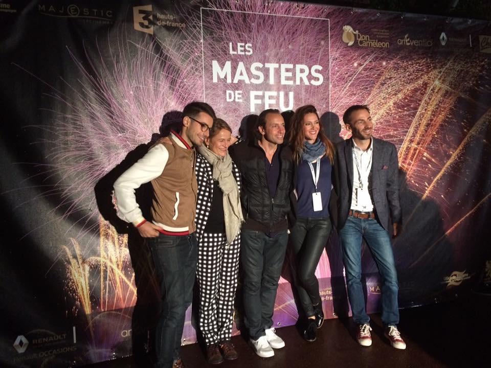 Le jury des Masters de Feu 2017: Jérémy Charte, Sophie Goupil, Philippe Candeloro, Sandra Lou, Yannick Le Gal.