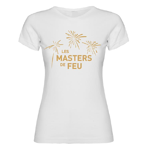 T-Shirt Masters de Feu Femme - Blanc Or