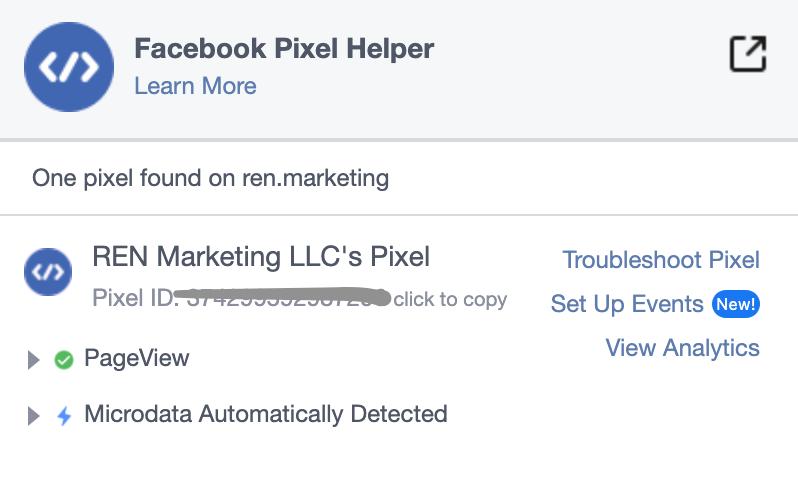 facebook pixel on website