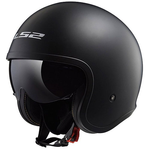 LS2 OF599 Spitfire Openface Helmets Matt Black