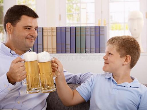 Pais, não ofertem álcool a seus filhos!