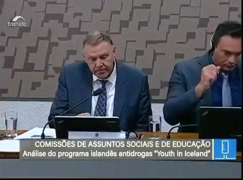 Programa islandês contra  drogas foi apresentado em audiência pública