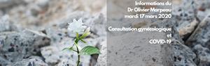 Informations sur les consultations gynécologiques du docteur Olivier Marpeau pendant la période de confinement due au COVID-19 ou Coronavirus